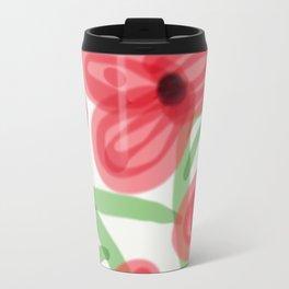 Big Red Flowers Travel Mug