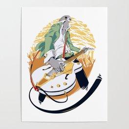 GRETSCH - White Falcon Poster