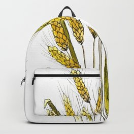 Golden wheat painting Backpack