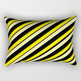 TEAM COLORS 1...double yellow,black and white. Rectangular Pillow