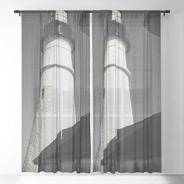 Maine series - lighthouse Sheer Curtain
