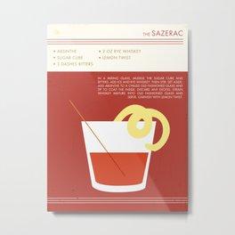 Sazerac Cocktail Art Metal Print