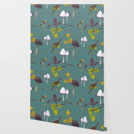 Autum mushroom romance Wallpaper