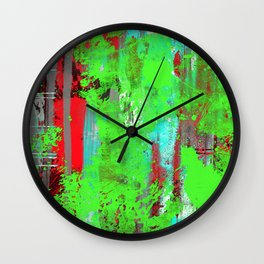 Colour Injection I Wall Clock