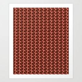 Sexy Lips Seamless Pattern Art Print