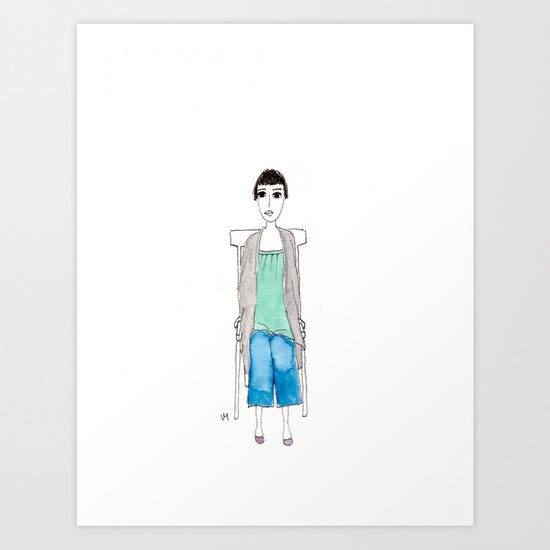 girl in another chair Art Print