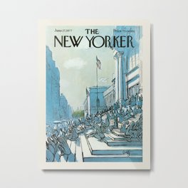 "Cover of "" The new Yorker"" magazine.  June 27 1977. Metal Print"