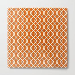 Mango Orange Diamond Pattern Metal Print