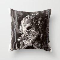 predator Throw Pillows featuring Predator by Stephanie Nuzzolilo