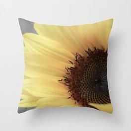 Dreamy Sunflower Photography Throw Pillow