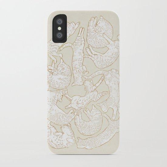 Eleven Sleepy Cat iPhone Case