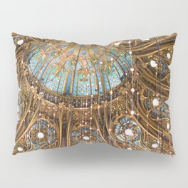 Galeries Lafayette Coupole Stained Glass Windows Pillow Sham