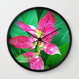 Flower #1 Color Wall Clock