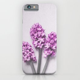 Pink Hyacinths iPhone Case