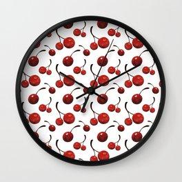 Watercolor Cherries Wall Clock