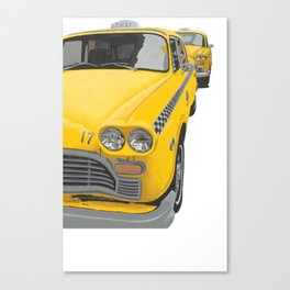 Taxi Stand Cut-Out Image Canvas Print