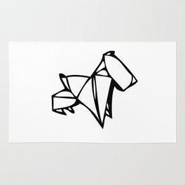 Origami Scottie Rug