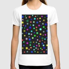 Stars on black ground T-shirt