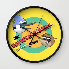 The Mordecai 'n' Rigby Regular Show Wall Clock