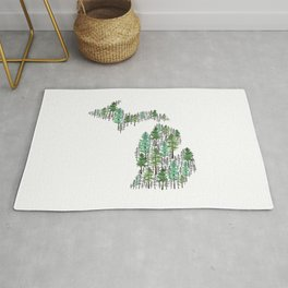 Michigan Forest Rug