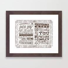 James 1:2-4 Framed Art Print