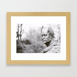 Marble portrait bust of a man Framed Art Print