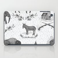 political iPad Cases featuring Political Toile by Jessica Roux