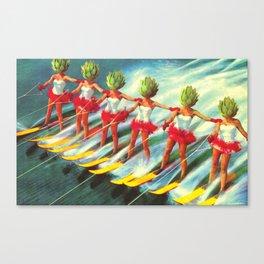 The artichoke skiers Canvas Print