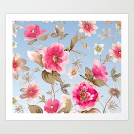flower watercolor 6 Art Print