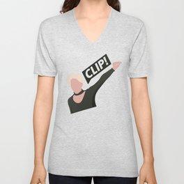 CLIP! CLIP! CLIP! Unisex V-Neck