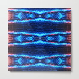 Abstract Blue Lines Metal Print