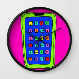 Leave It Enjoy This Moment! - bright colors colorful illustration Wall Clock