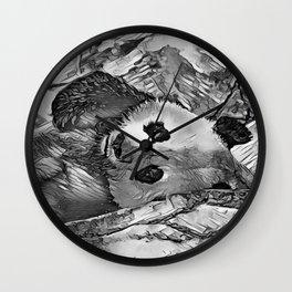 AnimalArtBW_Panda_20170602_by_JAMColorsSpecial Wall Clock
