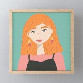 CINDY   Female Digital Illustration Framed Mini Art Print