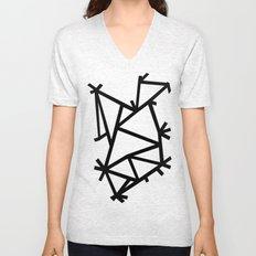 Ab Marble Zoom Black Unisex V-Neck