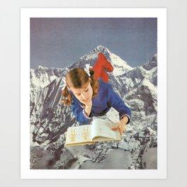 Girl Reading 1 Art Print