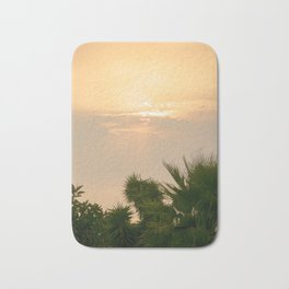 cloudy sky in the oasis Bath Mat