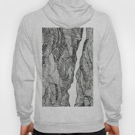 Split: lovely, hand-drawn, elements in black and white Hoody