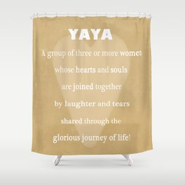 YaYa Typography Shower Curtain