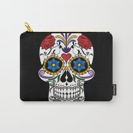 Colorful Sugar Skull Carry-All Pouch