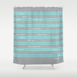 Jabberwocky - Aqua Shower Curtain