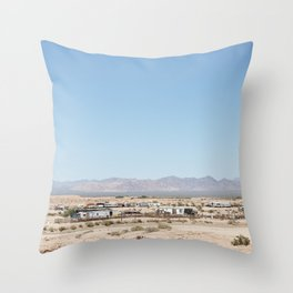Desert Ghost Towns Throw Pillow
