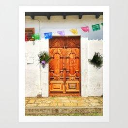 Door, Holy Week - Chiapas, Mexico Art Print