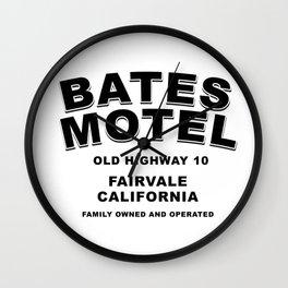 Psycho inspired Bates Motel logo Wall Clock