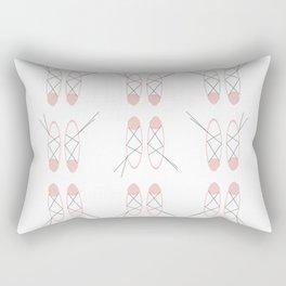 bbnyc ballet slippers Rectangular Pillow
