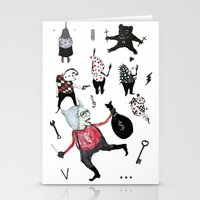 allyson johnson Stationery Cards featuring Minis Johnson by Franck Chartron