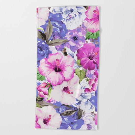 Purple Blossom #society6 #buyart #decor Beach Towel