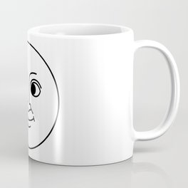 Creepy Moon Face Coffee Mug
