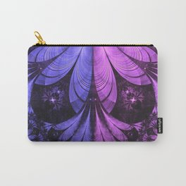 Beautiful Blue and Lilac-Violet Starling Feathers Carry-All Pouch