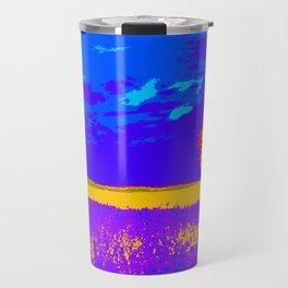 Lilac meadow of Provence Travel Mug
